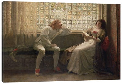 And Then, The Lover Sighing Like Furnace... (Illustration From Shakespeare's As You Like It), 1883 Canvas Art Print