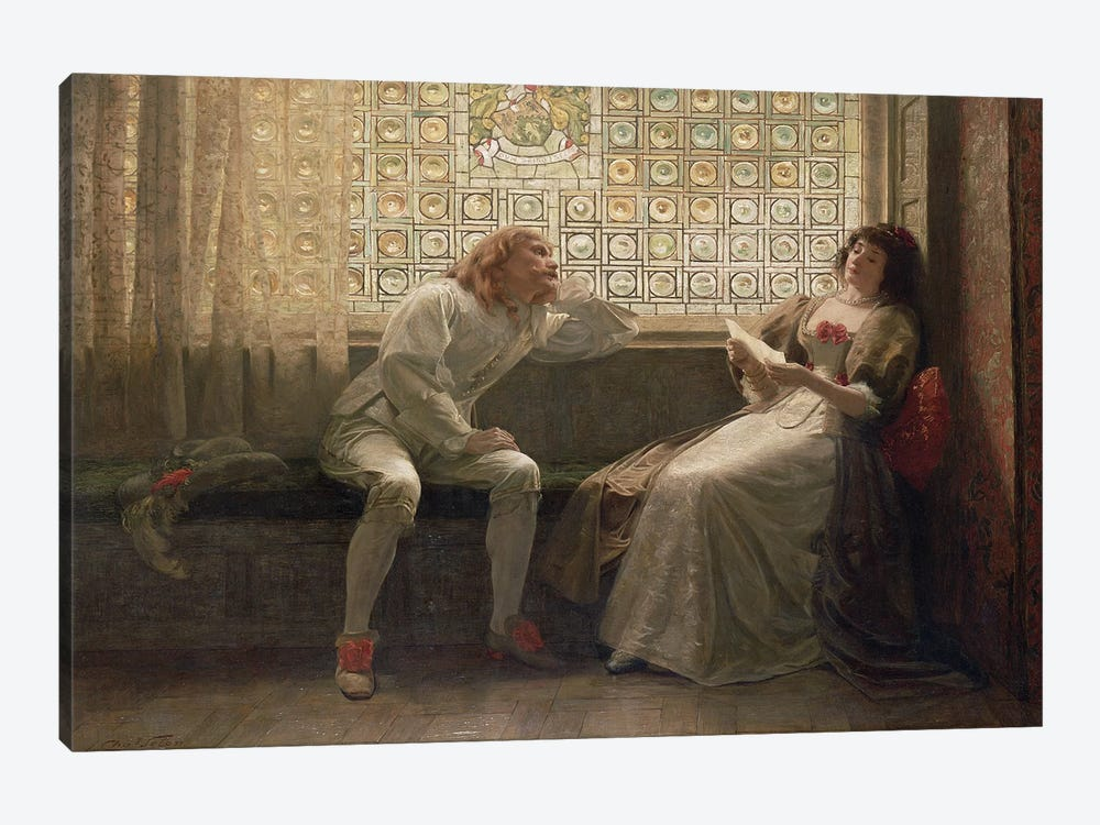 And Then, The Lover Sighing Like Furnace... (Illustration From Shakespeare's As You Like It), 1883 by Charles C. Seton 1-piece Canvas Wall Art