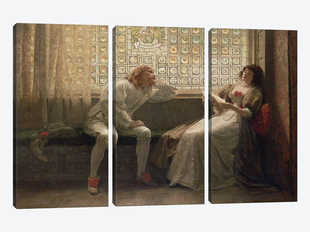 And Then, The Lover Sighing Like Furnace... (Illustration From Shakespeare's As You Like It), 1883 by Charles C. Seton 3-piece Canvas Wall Art