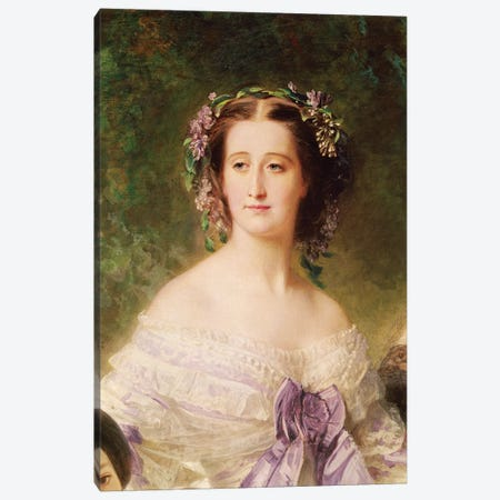 Empress Eugenie  Canvas Print #BMN2517} by Franz Xaver Winterhalter Canvas Print