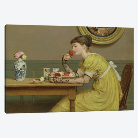 Roses  Canvas Print #BMN2520} by George Dunlop Leslie Canvas Art Print