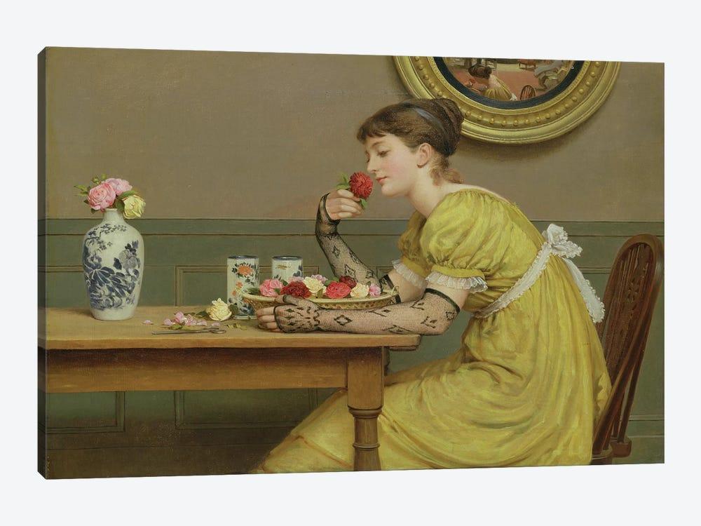 Roses  by George Dunlop Leslie 1-piece Canvas Art Print