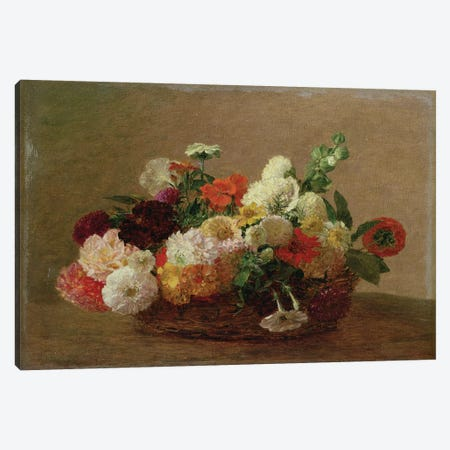 Flower Still Life  Canvas Print #BMN2521} by Ignace Henri Jean Theodore Fantin-Latour Canvas Print
