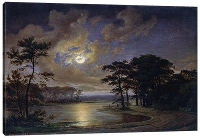 Holstein Sea - Moonlight, 1847  Canvas Art Print