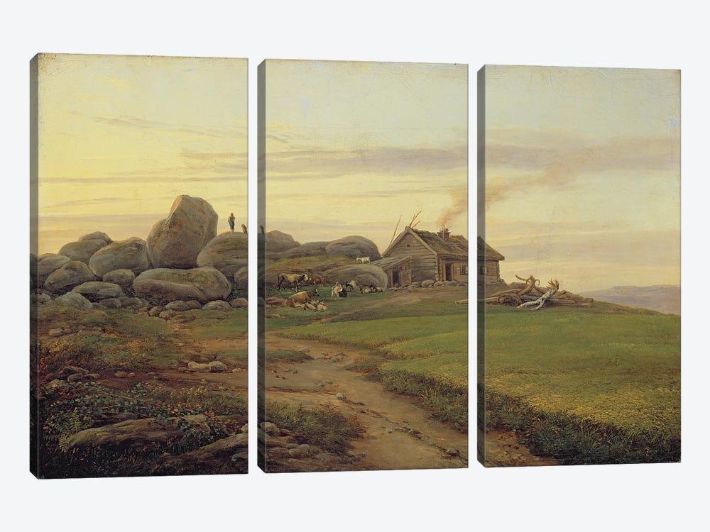 Hill Top, 1827  by Heinrich Stuhlmann 3-piece Canvas Art
