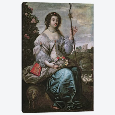 Julie d'Angennes  Canvas Print #BMN2524} by Claude Deruet Canvas Artwork