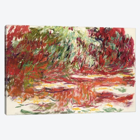 Waterlily Pond, 1918-19  Canvas Print #BMN2527} by Claude Monet Canvas Artwork