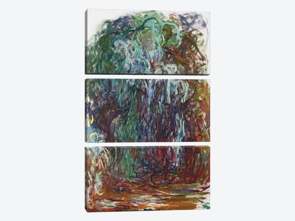 Weeping Willow, 1921-22  by Claude Monet 3-piece Canvas Wall Art
