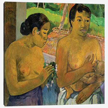 The Offering, 1902  Canvas Print #BMN2532} by Paul Gauguin Canvas Wall Art