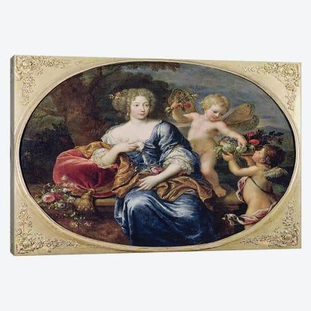 Portrait presumed to be Francoise-Athenais de Rochechouart de Mortemart  Canvas Print #BMN2536} by Pierre Mignard Art Print