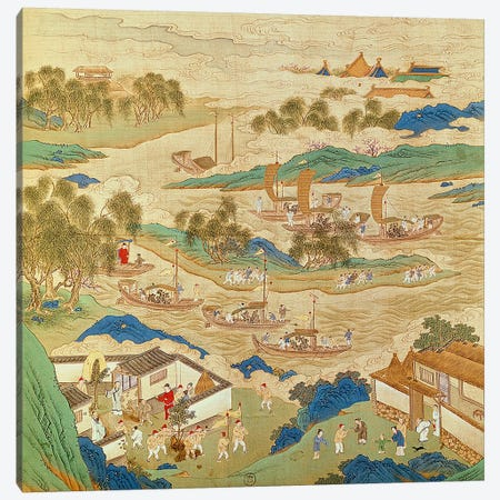 Emperor Hui Tsung  Canvas Print #BMN2537} by Chinese School Art Print