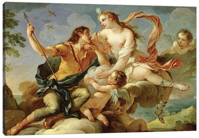 Venus and Adonis  Canvas Art Print