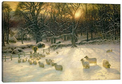 The Shortening Winter's Day is Near a Close  Canvas Art Print