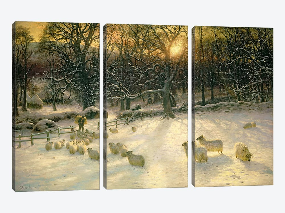 The Shortening Winter's Day is Near a Close  by Joseph Farquharson 3-piece Canvas Wall Art