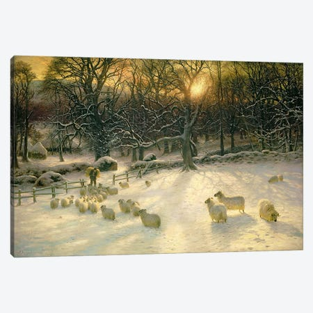 The Shortening Winter's Day is Near a Close  Canvas Print #BMN2541} by Joseph Farquharson Art Print