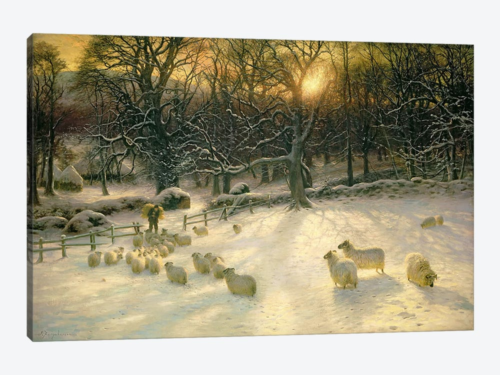 The Shortening Winter's Day is Near a Close  by Joseph Farquharson 1-piece Canvas Art
