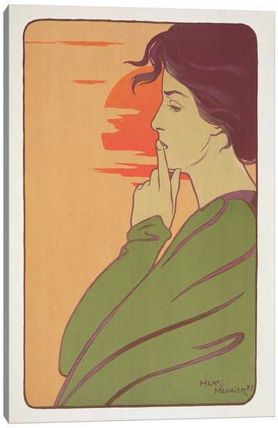 The Hour of Silence, 1897, from 'L'Estampe Moderne', published Paris 1897-99  Canvas Art Print
