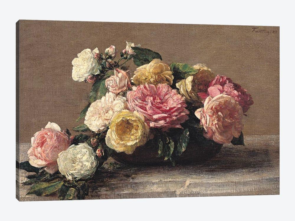 Roses in a Dish, 1882  by Ignace Henri Jean Theodore Fantin-Latour 1-piece Art Print