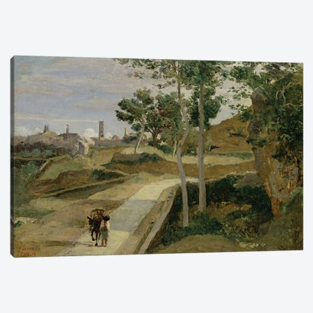 Road from Volterra  Canvas Print #BMN2550} by Jean-Baptiste-Camille Corot Canvas Art