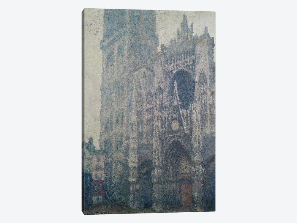 Rouen Cathedral, West Portal, Grey Weather, 1894  by Claude Monet 1-piece Canvas Art
