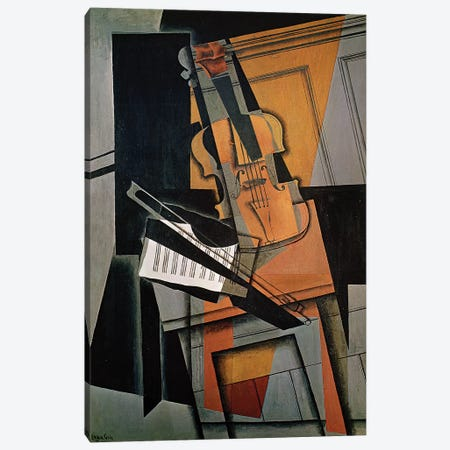 The Violin, 1916  Canvas Print #BMN2553} by Juan Gris Canvas Wall Art