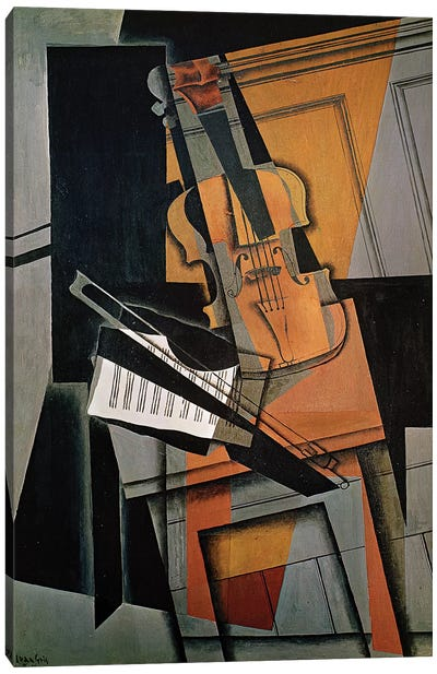 The Violin, 1916  Canvas Art Print