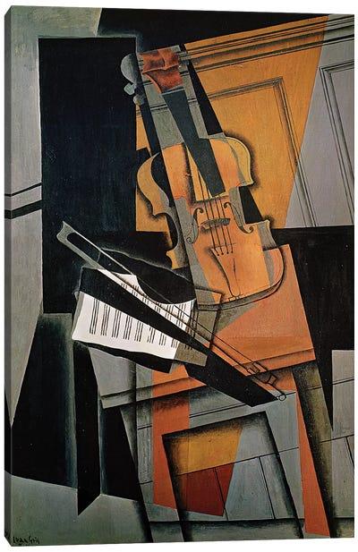 The Violin, 1916  Canvas Art Print