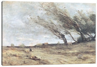 The Gust of Wind, c.1865-70  Canvas Art Print