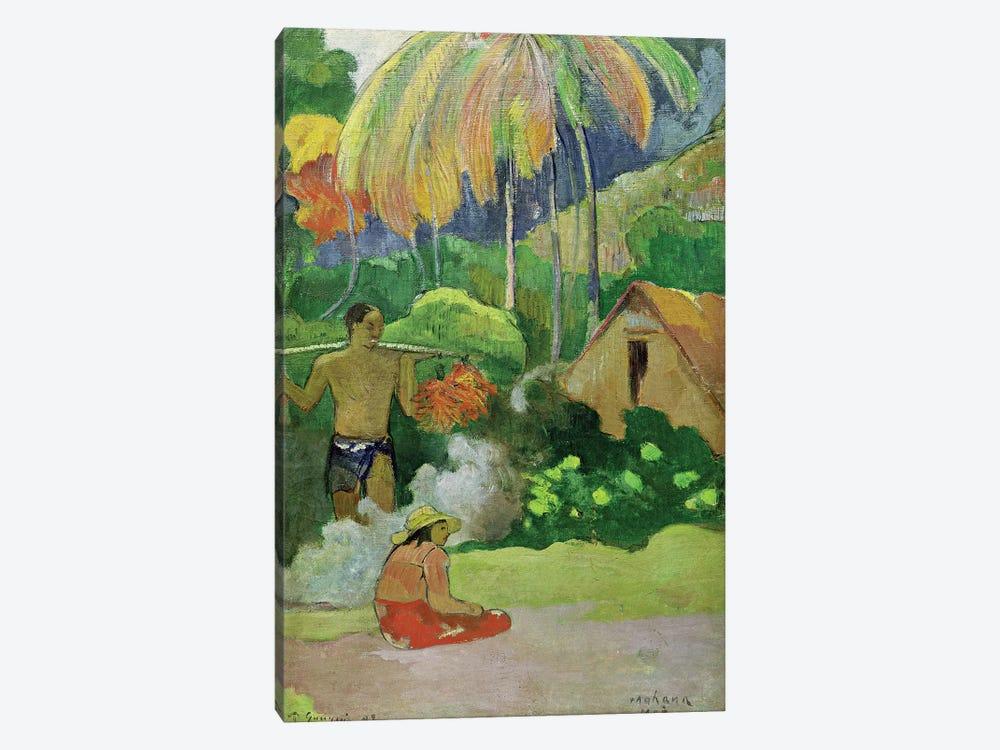 Landscape in Tahiti  by Paul Gauguin 1-piece Canvas Art Print