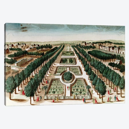View of the Jardin des Plantes from the Cabinet d'Histoire Naturelle  Canvas Print #BMN2556} by French School Canvas Print
