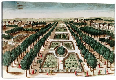 View of the Jardin des Plantes from the Cabinet d'Histoire Naturelle  Canvas Art Print