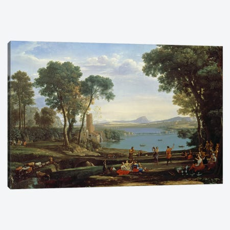 Landscape with the Marriage of Isaac and Rebekah  Canvas Print #BMN255} by Claude Lorrain Canvas Wall Art