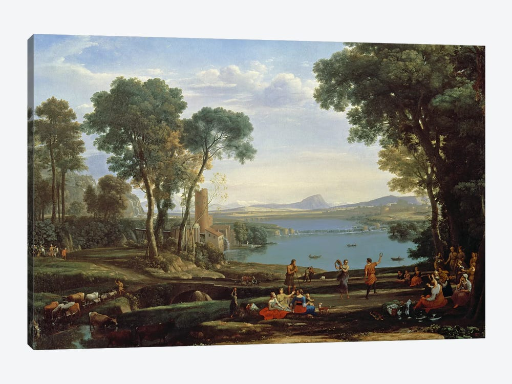 Landscape with the Marriage of Isaac and Rebekah by Claude Lorrain 1-piece Canvas Art