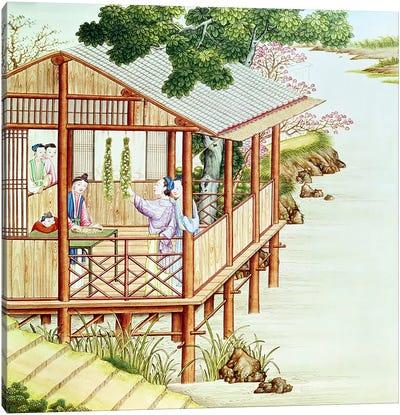 Women doing domestic work  Canvas Art Print