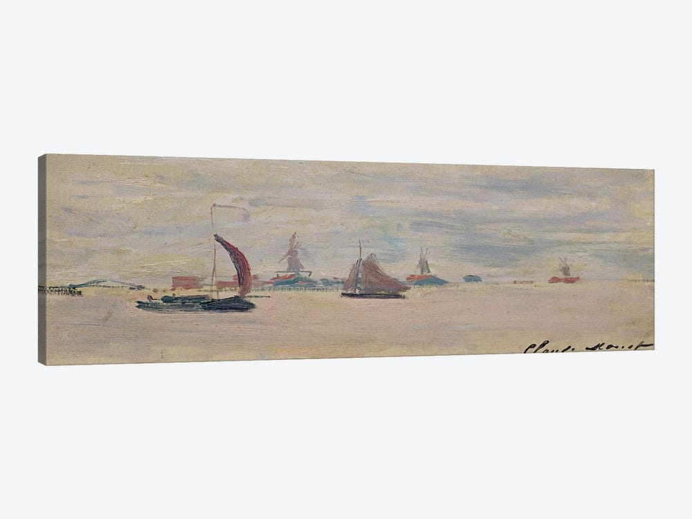 View of the Voorzaan, 1871  by Claude Monet 1-piece Canvas Art