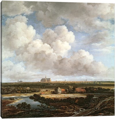 Bleaching Ground in the Countryside near Haarlem, 1670  Canvas Art Print