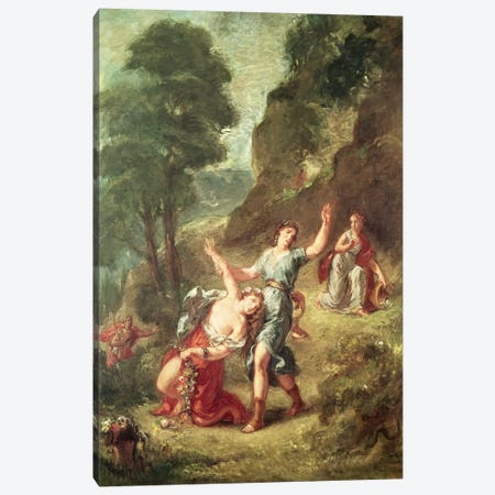 Orpheus and Eurydice, Spring from a series of the Four Seasons, 1862  Canvas Print #BMN2570} by Ferdinand Victor Eugene Delacroix Canvas Wall Art