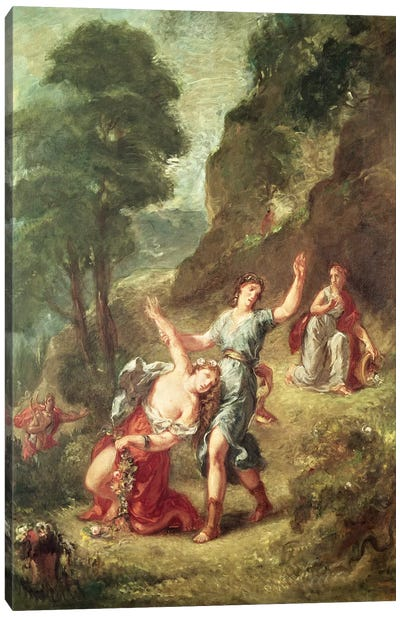 Orpheus and Eurydice, Spring from a series of the Four Seasons, 1862  Canvas Art Print