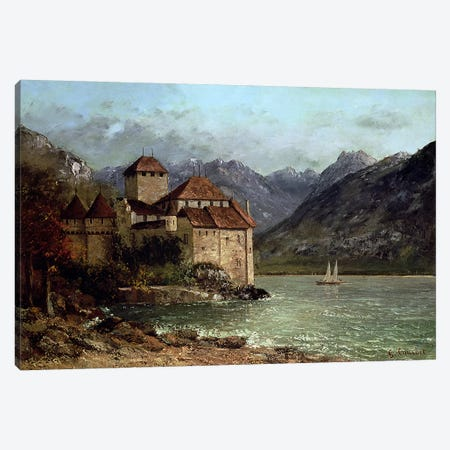 The Chateau de Chillon, 1875  Canvas Print #BMN2571} by Gustave Courbet Canvas Wall Art