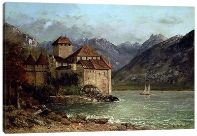 The Chateau de Chillon, 1875 Canvas Art Print