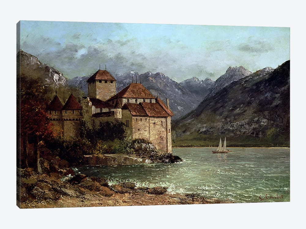 The Chateau de Chillon, 1875 by Gustave Courbet 1-piece Canvas Art Print