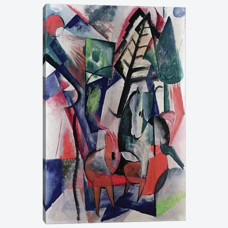 Animals Under Trees  Canvas Print #BMN2574} by Franz Marc Canvas Print