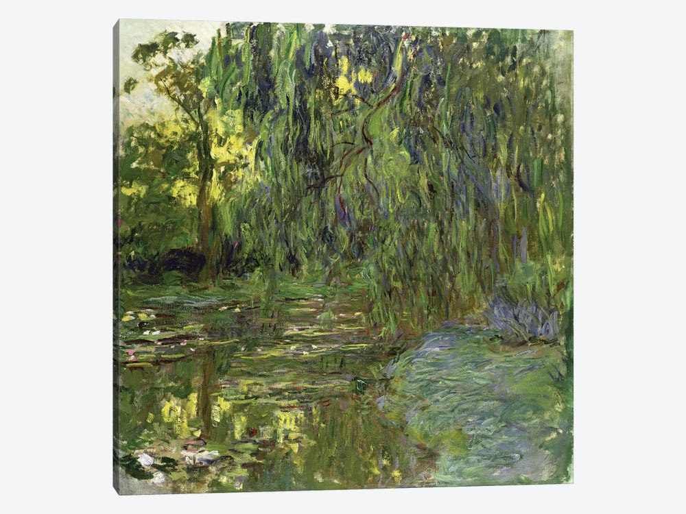Weeping Willows, The Waterlily Pond at Giverny, c.1918  by Claude Monet 1-piece Canvas Art