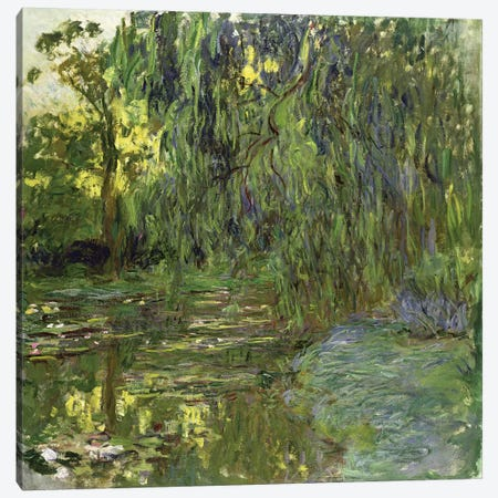 Weeping Willows, The Waterlily Pond at Giverny, c.1918  Canvas Print #BMN2576} by Claude Monet Canvas Print