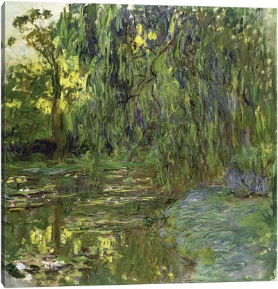 Weeping Willows, The Waterlily Pond at Giverny, c.1918  Canvas Art Print