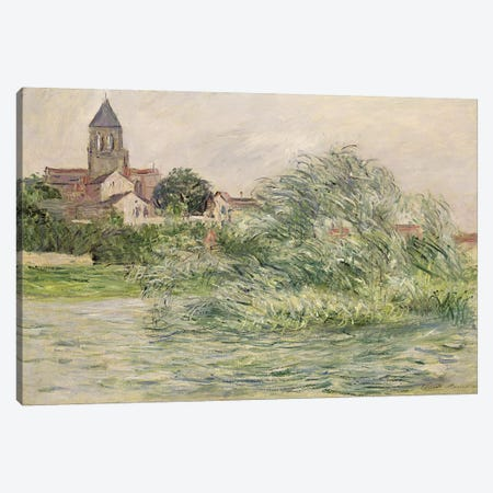 The Church and the Seine at Vetheuil, 1881  Canvas Print #BMN2578} by Claude Monet Canvas Art