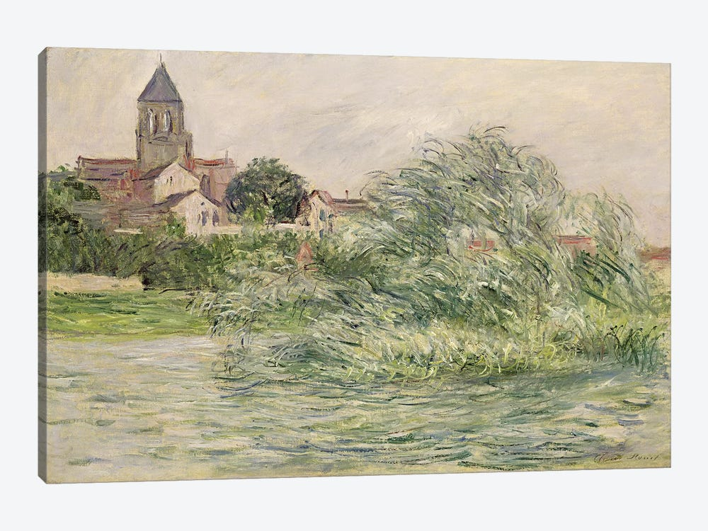 The Church and the Seine at Vetheuil, 1881  by Claude Monet 1-piece Canvas Art