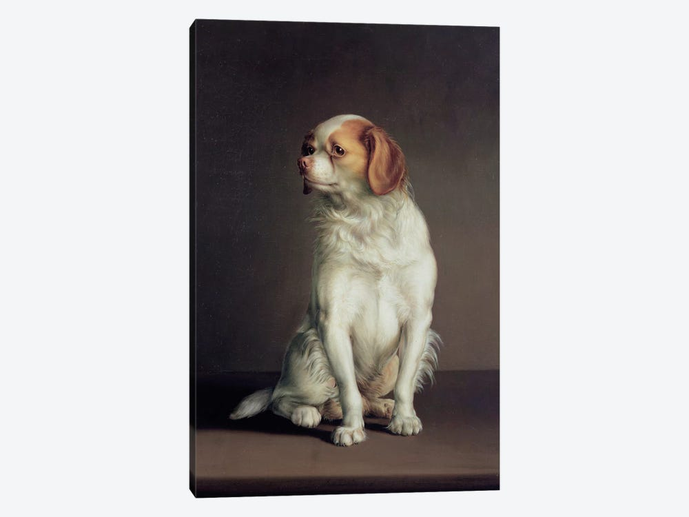 Portrait of a King Charles Spaniel by Louis Leopold Boilly 1-piece Canvas Wall Art