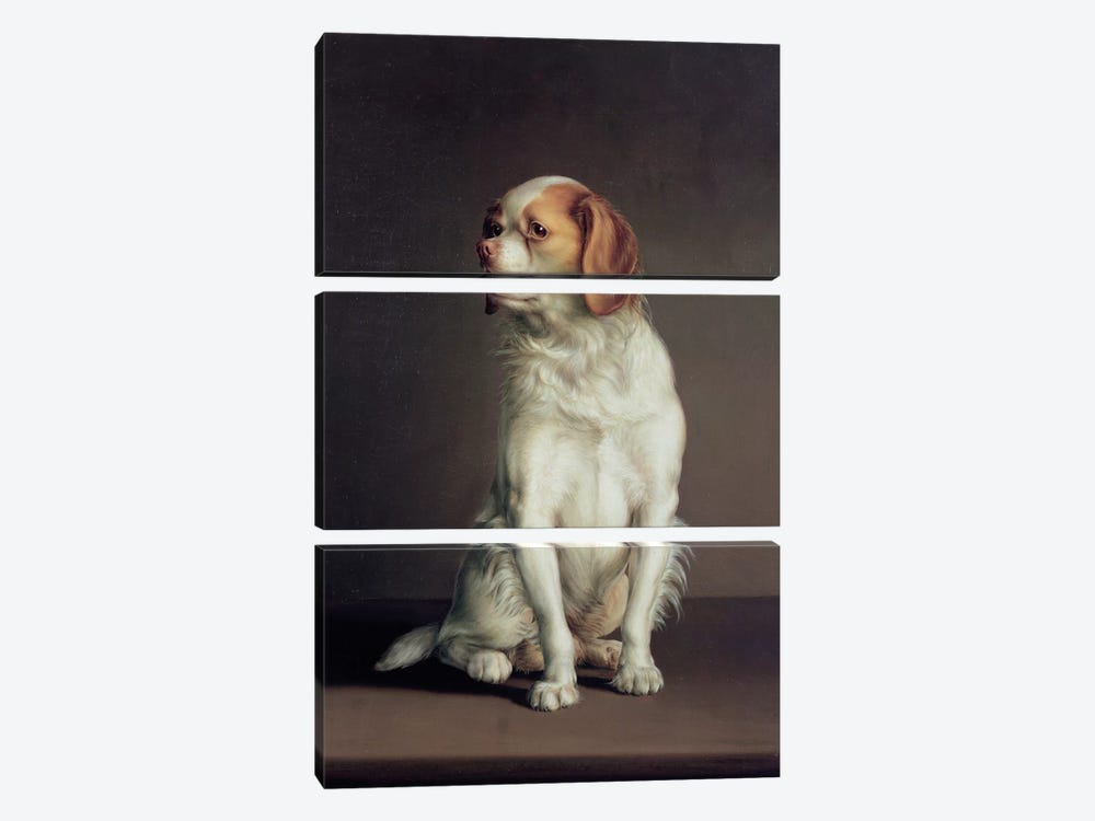 Portrait of a King Charles Spaniel by Louis Leopold Boilly 3-piece Canvas Art