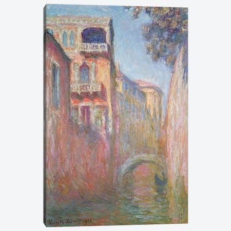 Venice - Rio de Santa Salute, 1908  3-Piece Canvas #BMN2580} by Claude Monet Art Print